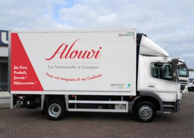 Création visuel pour la flotte de camion